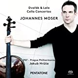 ドヴォルザーク : チェロ協奏曲   ラロ : チェロ協奏曲 (Dvorak & Lalo : Cello Concertos / Johannes Moser   PKF - Prague Philharmonia   Jakub Hrusa) [SACD Hybrid] [輸入盤] [日本語帯・解説付]