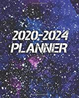 2020-2024 Planner: Five Year Monthly Schedule Agenda & Organizer | Abstract Universe 5 Year (60 Months) Spread View Calendar with Inspirational Quotes, To-Do's, U.S. Holidays, Vision Board & Notes