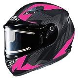 HJC エイチジェイシー CS-R3 Treague Snow Helmet - Electric Shield 女性用 フルフェイスヘルメット マットブラック/ネオンピンク M(57〜58cm)