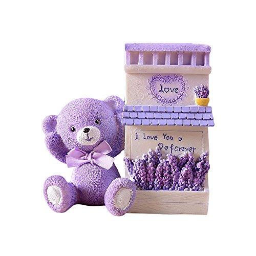 Zhi Jinかわいいクマ収納ボックス 鉛筆ホルダー おしゃれなペン立て オフィス誕生日プレセント