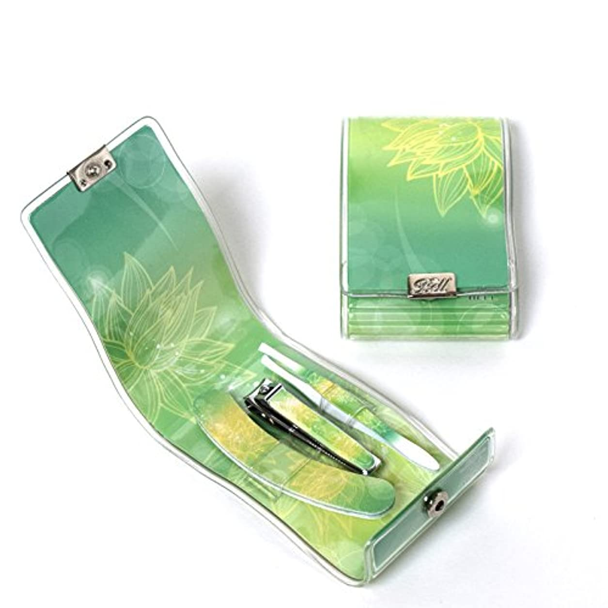 イソギンチャクスラダムシャベルBELL Manicure Sets BM-9932 ポータブル爪ケアセットトラベル爪切りセットステンレス鋼の失速構成花のイラストが挿入された透明高周波ケースPortable Nail Clippers Nail Care...