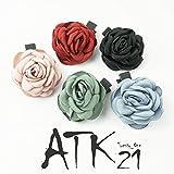 [ATK21] ローズ 薔薇 ヘアピン ヘアクリップ フォーククリップ 簡単ヘアアレンジ レディース ヘアアクセサリー (レッド)