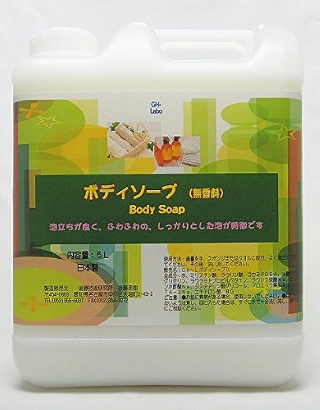 クリップ蝶ビーズ収容するGH-Labo 業務用ボディソープ 無香料 5L