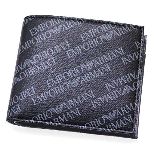 EMPORIO ARMANIエンポリオアルマーニ 二つ折り財布 Y4R167/YLO7E_86526BOARD/BLACK 並行輸入品