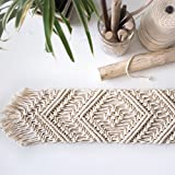 QiangZi テーブルランナーかぎ針編みの飾り付けフリンジBohoシックな手織りのオフィスキッチンダイニングウェディングパーティホームインテリアPlacematテーブルクロス(30 * 50CM) ( サイズ さいず : 30×150CM )