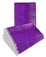 10パックメタリックバブルMailers 7.5X 11。パープルパッド入り封筒71/2x 11。GlamourバブルMailers Peel andシール。パッド入り郵便封筒の出荷、パッキング、パッケージ。