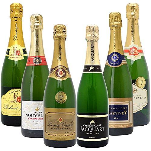 高コスパ・高品質シャンパン6本セット((W0CN02SE))(750mlx6本ワインセット)