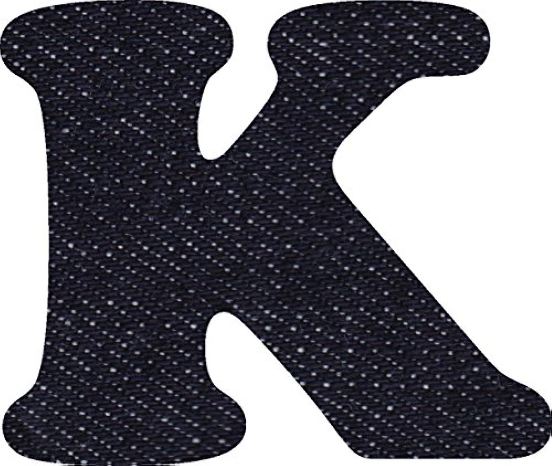 尊敬するアンタゴニスト批判的デニム 生地 アルファベット K アップリケ アイロン接着可能 大文字 coop