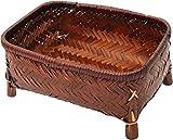 アビテ アジアン風 竹製バスケット バンブー小物カゴCタイプ L HZ-007-BR
