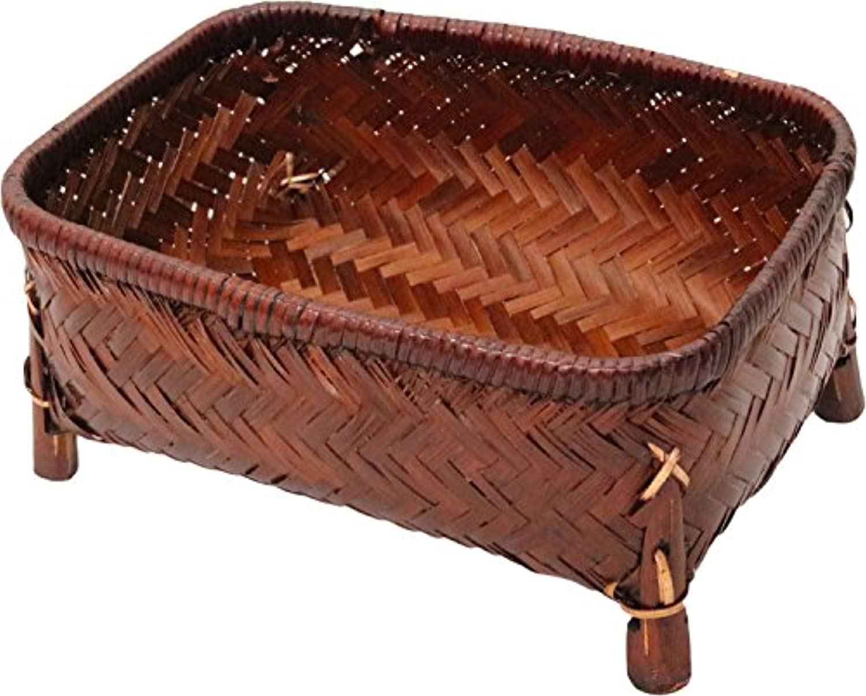 アビテ アジアン雑貨 竹製バスケット バンブー小物カゴCタイプ L HZ-007-BR