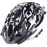 Osize メンズ女性多孔質換気マウンテンバイクヘルメットワンピース自転車ヘルメット(ブラック)