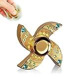 MixMart Hand Spinner Fidget Spinner ハンドスピナー 指スピナー おもちゃ TOY セラミックのボールベアリング 超耐久性の高速度 2〜3分平均スピン (金四角)