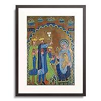作者不明 Anonymous 「The Adoration of the Magi. About 1189-90」 額装アート作品