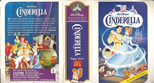 Cinderella Action Figure - 1995 McDonald's Walt Disney Masterpiece Collection Series by McDonald's [병행수입품]