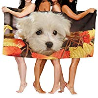 かわいい犬 バスタオル スポーツタオル ビーチタオル 人気 速乾 大判 旅行用 抗菌防臭 おしゃれ 家庭用 タオル 特大サイズ 80 X 130cm 1枚