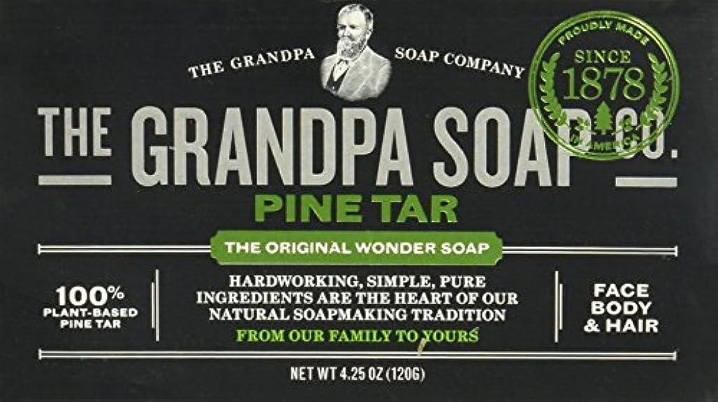 一部刃回転するGrandpas Pine Tar Soap, Wonder, 4.25 Oz