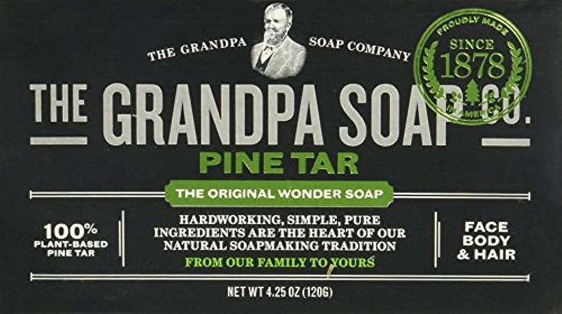 どこでも手錠実質的にGrandpas Pine Tar Soap, Wonder, 4.25 Oz