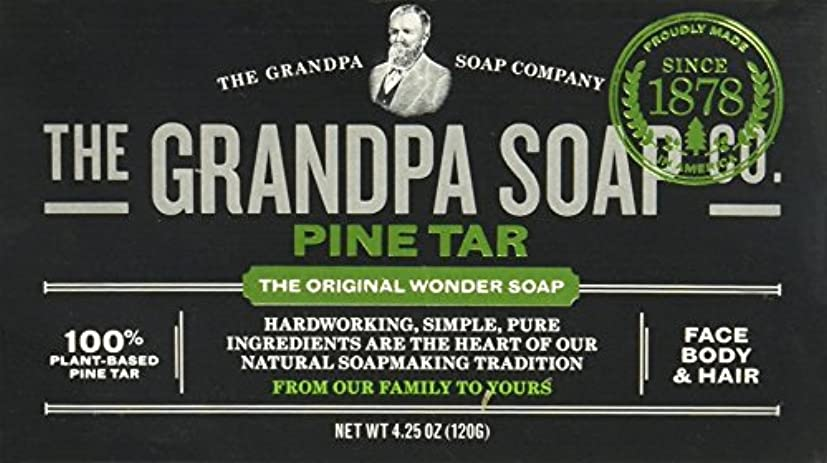 歯科のカメ悔い改めGrandpas Pine Tar Soap, Wonder, 4.25 Oz