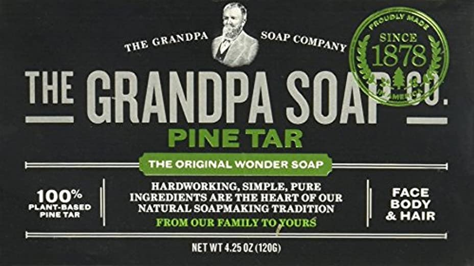 不安定滑る発信Grandpas Pine Tar Soap, Wonder, 4.25 Oz