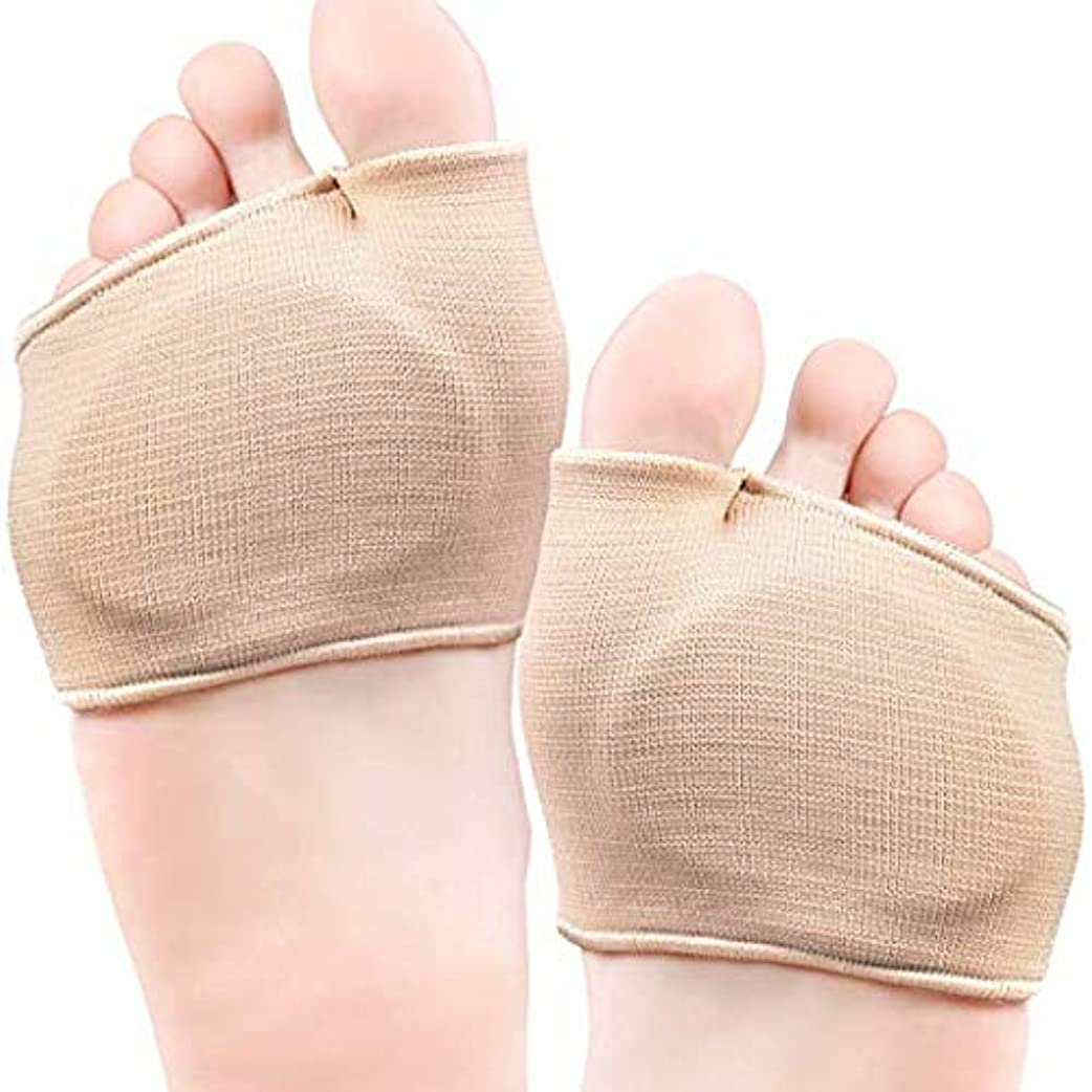 ピケ物語説教前足部クッションパッド付き中足部ジェルスリーブ(2ペア)-足の健康のボールをサポート(サイズ:L/XL-中足部スリーブ-靴/ブーツ)