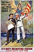 US Navyヴィンテージポスター – The Navy Needs You 12 x 18 Art Print LANT-51380-12x18