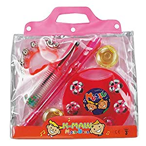 キクタニ パーカッション6点セット 知育楽器 PK-04 ピンク