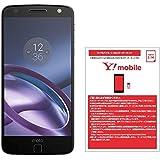 モトローラ スマートフォン Moto Z 64GB ブラック 国内正規代理店 AP3786AE7J4 & ワイモバイル(Y!mobile) ナノSIM スターターキット