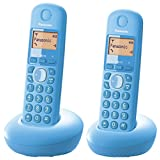 Panasonic KX-TGB212CXF Digital Cordless Phone, Pastel Blue