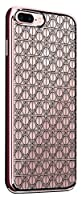 Luxendary LUX-I7CRMR-DEATHLYH2 Floral Sugar Skull Design Chrome Series Case in Rose Gold for iPhone 6/6S Plus [並行輸入品]