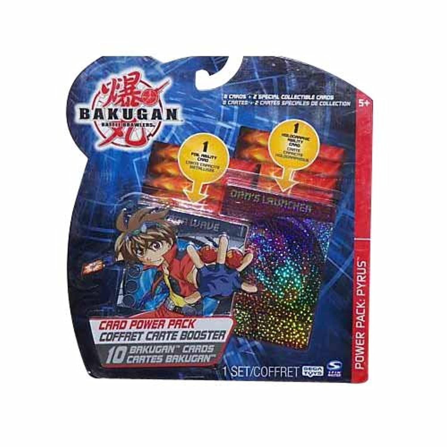 BAKUGAN BATTLE BRAWLERS 10 CARD POWER PACK: PYRUS (ASSORTED CARDS/WILL VARY)