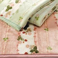 ハーフケット 西川産業 ウェッジウッド WEDGWOOD アクリル ハーフ毛布 日本製 WW7620 (ピンク)