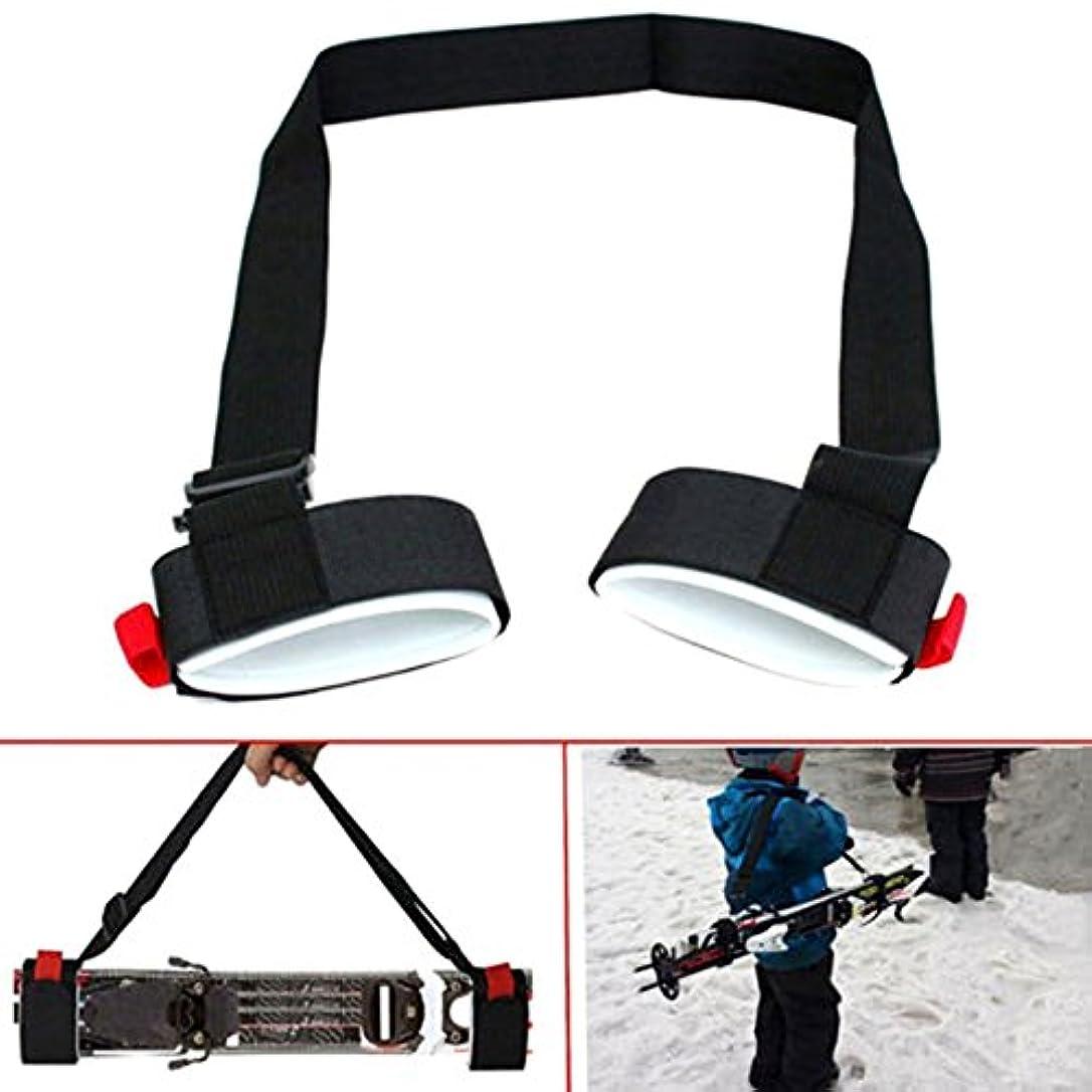 必要いろいろ愛Nylon Skiing Bags Adjustable Skiing Pole Shoulder Hand Carrier Lash Handle Straps Porter Hook Loop Protecting For Ski Snowboard