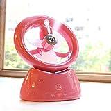 小型 ミストファン ミスト扇風機 ファンスプレー ミストシャワー 加湿 涼しい 霧 加湿器 USB充電式 涼しい マイナスイオン ◇LJQ-081 (ローズ)