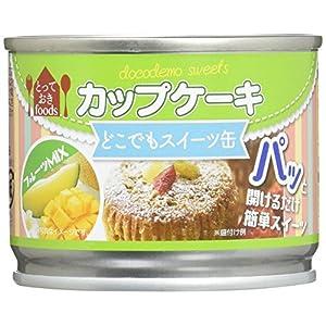 トーヨーフーズ どこでもスイーツ缶 カップケーキ フルーツミックス 50g×24個