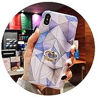ヴィンテージ幾何学的大理石ケース用iphone x sマックスxr 6 6 s 7 8プラスx x sソフトIMDリングホルダー電話裏表紙コークギフト,d,For iPhone XR