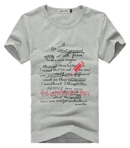 メンズ ペン プリント Tシャツ 【全3色】 アールポート