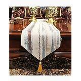 テーブルランナー ホームデコレーション 豪華 工芸品 おしゃれ 長方形 エレガント モダン シンプル 結婚式 クリスマス (Color : Blue, Size : 30*210cm)
