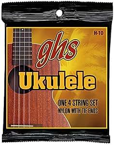 ghs ウクレレ弦 HAWAIIAN UKULELE/ハワイアンウクレレ (コンサート/スタンダード) ブラックナイロン H-10