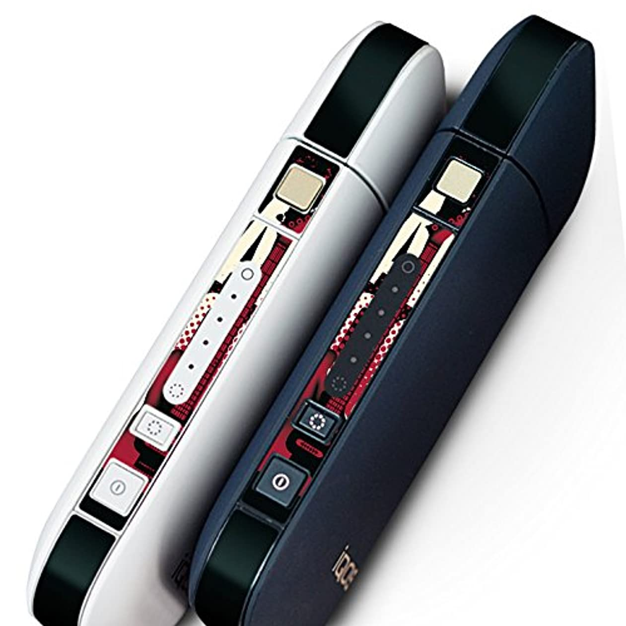 節約評価可能カスケードIQOS 専用 シール ケース 側面スキンシール 専用スキンシール バンパー カバー 保護 フィルム ステッカー デコ アクセサリー デザイン おしゃれ ギター ロック かっこいい 011870