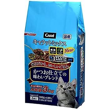 キャラット キャットフード ミックス かつお仕立ての味わいブレンド 国産 フィッシュ 3kg (500g ×6袋入)