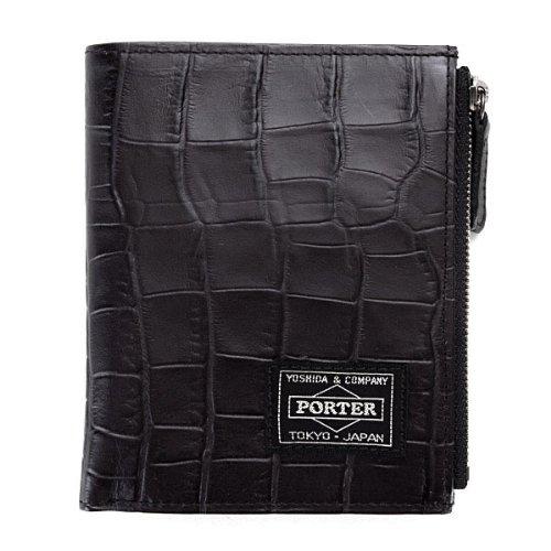 ヘッドポーター 財布 HEAD PORTER 二つ折り財布 メンズ レディース CROCO クロコ ブラック(黒)SP-1111 HEAD PORTER