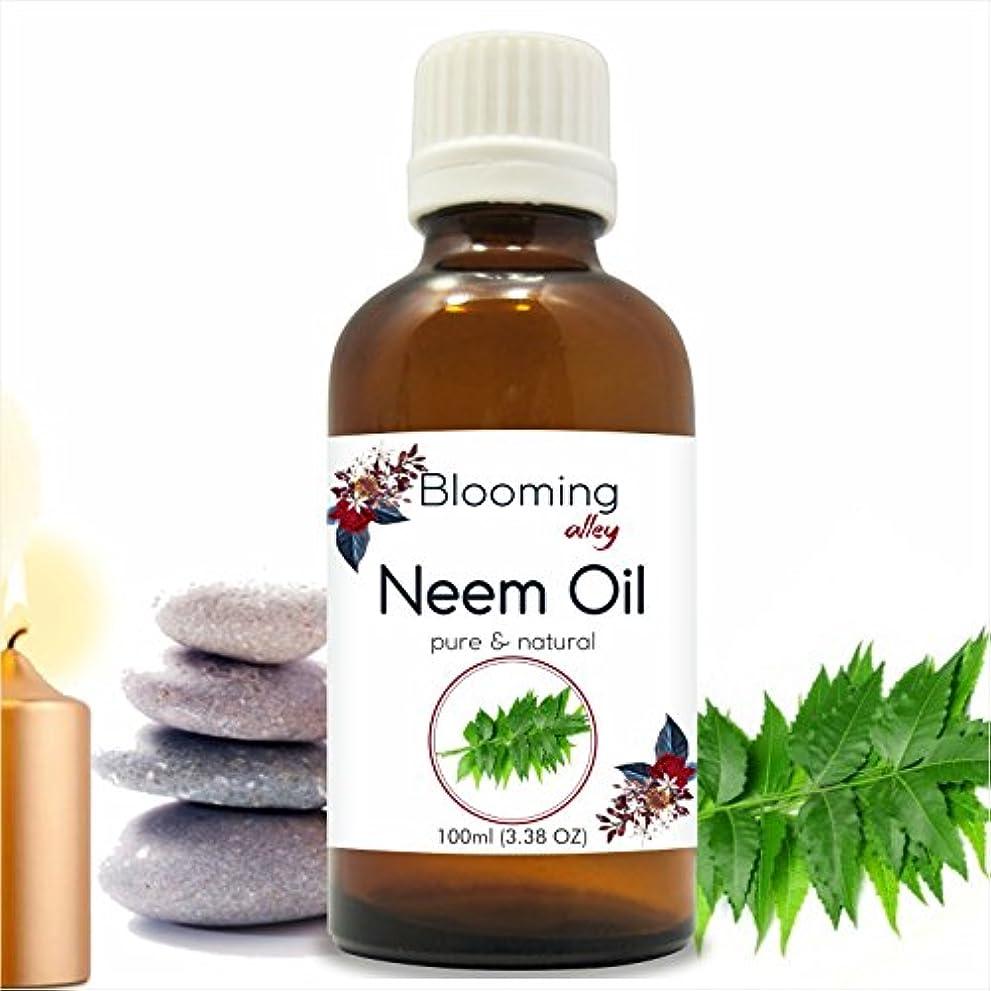 粗い冷蔵するシルエットNeem Oil (Azadirachta Indica) Essential Oil 100 ml or 3.38 Fl Oz by Blooming Alley