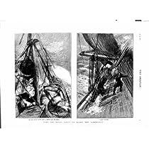 1879 高貴な党船の Sarmatian Trysail の嵐橋