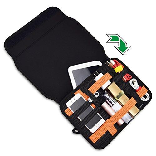 US Sense 旅行用品収納、電子付属品 防水収納バッグ 充電ケーブルUSBメモリー収納ポーチ ベーシックPC周辺小物整理 iPad ケース スリーブ