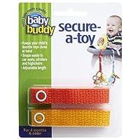 ベビーバディ おもちゃストラップ2色各1本組 オレンジ/マンゴー(2本入) ベビー&キッズ おでかけ用品 おでかけ小物 [並行輸入品] k1-47414001582-ak