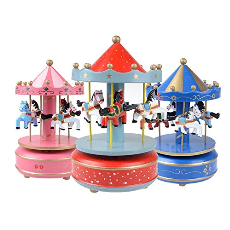 mikolot木製メリーゴーランドミュージックボックスクリスマス誕生日ギフトカルーセル音楽ボックス