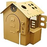 HOWAY オンリーハウスシリーズ (オンリーハウス茶) ダンボール製 針が回せる時計玩具付