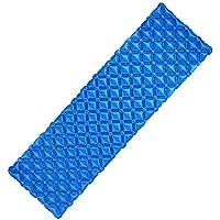 Inflatable Sleepingマットパッドユニークなバックルデザイン軽量折りたたみキャンプエアマットレスと互換性ハンモックとテントSleeping Bag forアウトドアバックハイキング ブルー 85214