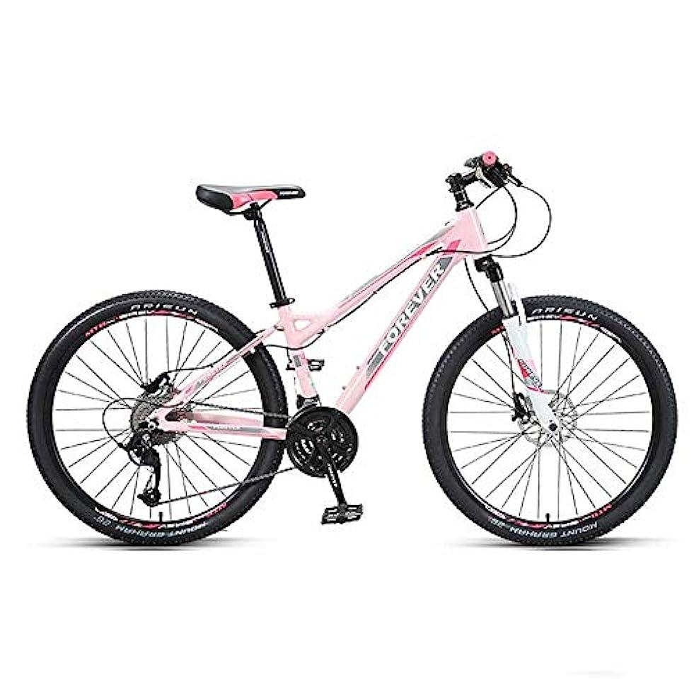 待つ泣き叫ぶ粉砕する大人用マウンテンバイク30スピード26インチ自転車 サスペンションフォーク付きアルミニウムフレーム デュアルディスクブレーキフルサスペンションマウンテントレイルバイク ピンク