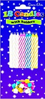 Spiral Birthday Cake Candles (pack Of 18) - Assorted